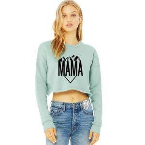 Mountain Mama Cropped Mint Sweatshirt
